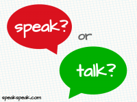 Confusing words: speak, talk