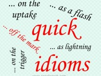 English idioms containing quick