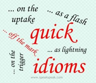 English idioms containing quick