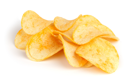 Crisps in Britain, chips in the United States.