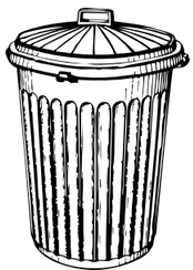 an old-fashioned dustbin