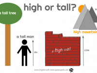 Confusing words: high vs. tall