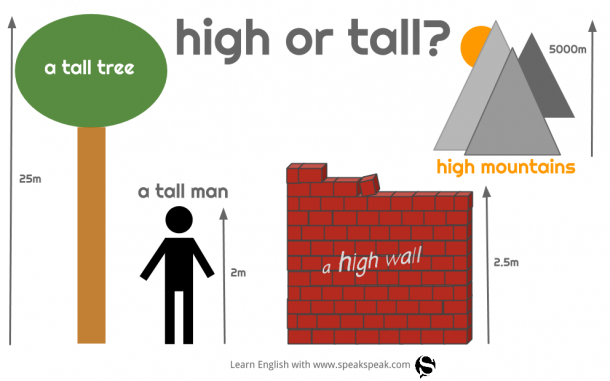 high vs. tall
