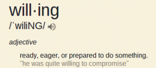 willing definition speakspeak