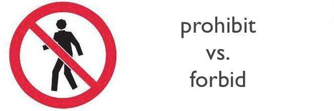 prohibit forbid difference